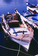 Kreta - Agios Nikolaos - farbiges Holzboot