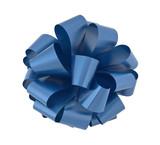 Big blue ribbon bow cutout poster