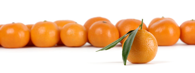 Mandarines, standing out from the crowd concept