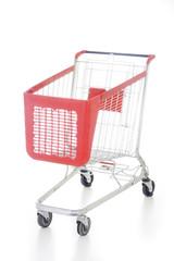 Big red shopping cart