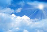 glow solar sky beautiful year daytime poster
