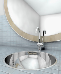 bath washbasin mirror