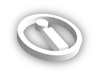 Information Symbol (3D with shadow)