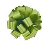 Big green ribbon bow cutout poster