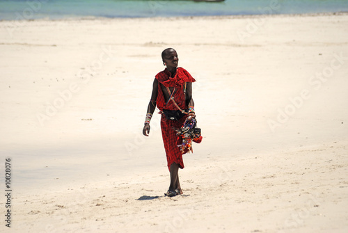 african on the beach