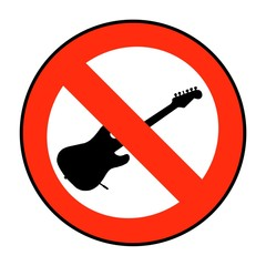 prohibition of game on guitar