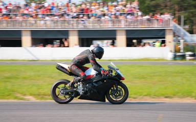 Racer on motion