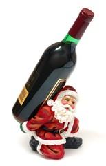 Santa wine holder