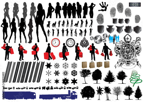 Collection of Vector Fingerprints, Footprints and more