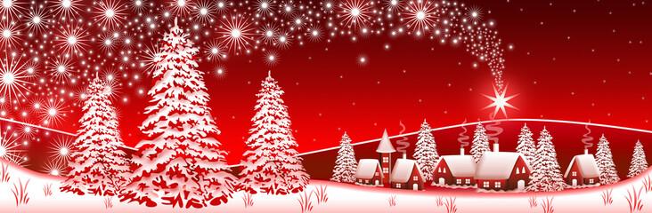 Red Winter Landscape