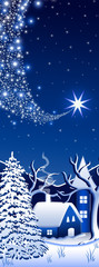 Blue winter landscape # 2