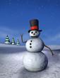 Waving Snowman, Vertical