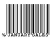 """January Sales"" barcode"