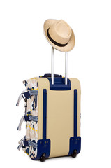 Luggage bag with hat