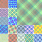 Big collection of seamless plaid vector patterns poster
