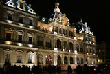 Lyon - Palais de la Bourse by night poster