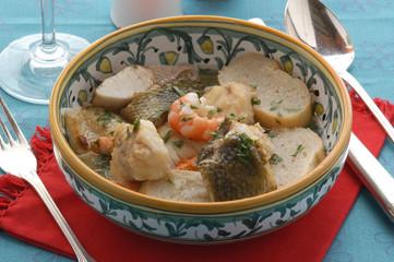 Zuppa di avole e coregoni - Brodeto del Garda - Primi Veneto