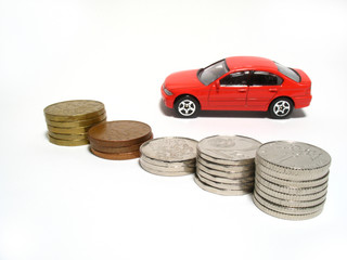Toy-car and coins