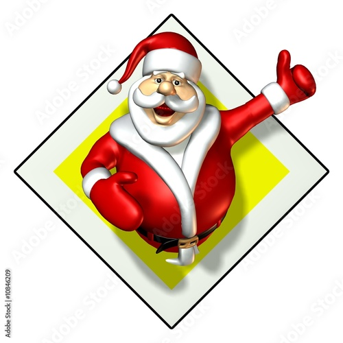Weihnachtsmann Vorfahrt
