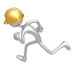 Construction Worker Running