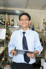 store keeper in beverage store