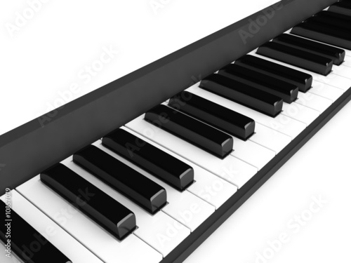 three dimensional piano keys