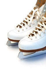 Figure skates closeup