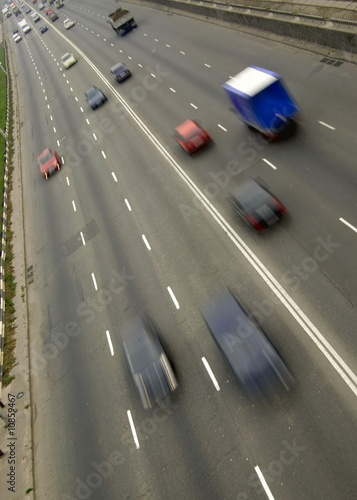Traffic with motion blur..
