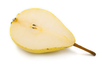 cuted ripe pear