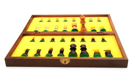 an old chess set