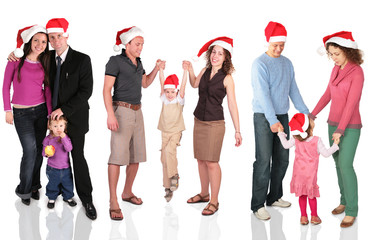 many christmas families