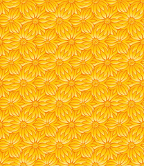 Flower pattern. The vector pattern is seamless!