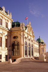 The Belvedere in Vienna, Austria