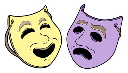 Pair of theatre masks