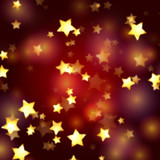 Fototapety golden stars in red and violet lights