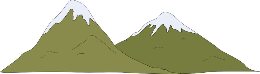 Illustration of a snow-capped mountain