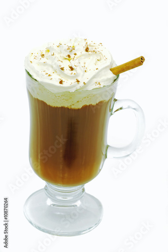 Hot chocolate Isolated on a white background