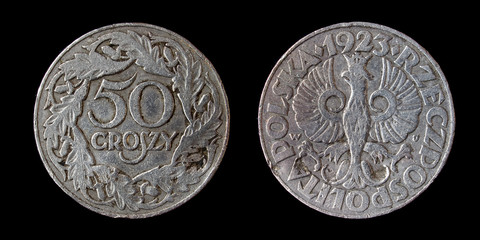 Old poland coin