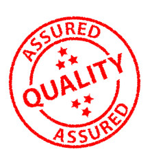 """Quality Assured"" ink stamp"