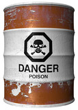 Barrel with poison poster