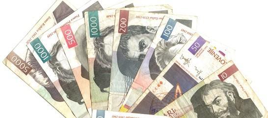 slovenian banknotes