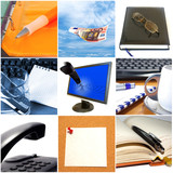 Group of business objects poster
