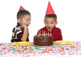 Kids at Birthday Party, 5 and 6 years old