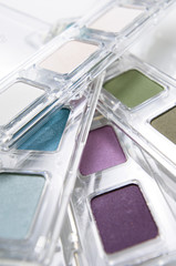 Eye-shadow boxes, close-up