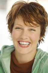 Portrait of young woman smiling for the camera