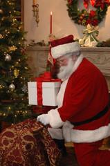 Santa Placing a Gift