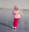 Child in Pink Ice Skating.