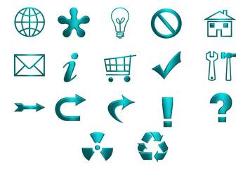 Turquoise Icons