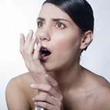 Shocked woman poster