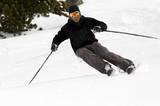 Fototapeta skieur hors pistes